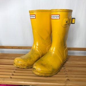 Hunter Yellow High Rain Boots